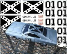 1/64 scale water slide decals fits Hot Wheels General Lee