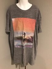 Boys Gray T Shirt Surfing Ocean Waves. Free State Extra Small.   E43