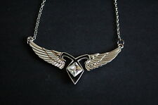 silver tone the mortal instruments shadowhunter wing necklace vintage kitsch emo