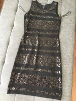 INC Sequin Dress Black Dress XS