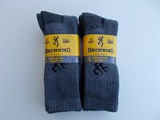 Browning Made In USA Work Crew Socks Size 9-13 Four Pairs
