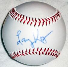 LARRY KING CNN HAND SIGNED AUTOGRAPHED OFFICIAL BASEBALL! RARE! W/ PROOF +C.O.A.