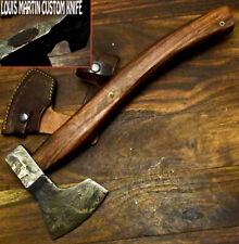 LOUIS MARTIN RARE CUSTOM DAMASCUS STEEL ART TOMAHAWK KNIFE,HATCHET, AXE,INTEGRAL