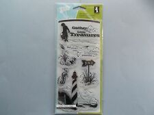 INKADINKADO RUBBER STAMPS CLEAR DOWN BY THE SEASIDE STAMP SET
