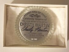 CHRISTY MARTIN  AUTOGRAPHED BOXING HOF PAPERWEIGHT VERY RARE 13/100