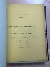 FOURNITURE DES TABACS 1881-1885 CAHIER DES CHARGES DIFFERENTS PAYS VERS FRANCE