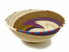 Zulu Telephone Wire Baskets from South Africa - Large Bowl 124