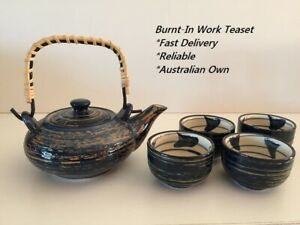 Japanese Design Chinese Teaset - TS003- Blue and Brown