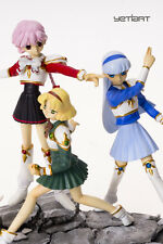 Hikaru Fuu and Umi Magic Knight Rayearth Hand Painted Yetiart Figure INSTOCK