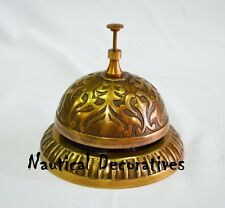 Victorian Antique Patina Finish Desk Bell Reception Hotel Table Bell