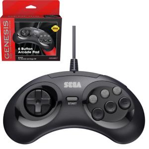New Retro-Bit Official Sega Genesis Controller 6-Button Arcade Pad - BLACK