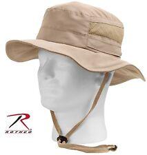 Rothco Lightweight Mesh Boonie Hat - Khaki Adjustable Summer Bucket Bush Hats