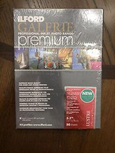 "Ilford Galerie Premium Lustre 270 GSM 275 MICRON 5x7"" 50 SHEETS"