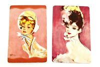 1920s / 30s Era Pin Up Illustrations -  Pair of Swap Playing Cards - Vintage