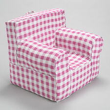 Insert For Pottery Barn Anywhere Chair With Pink Gingham Slip Cover Regular Size