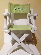 Chaise de metteur en scène enfant - en bois et tissu - occasion en bon état