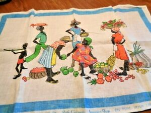"RUTH CLARAGE'S JAMAICAN SHOP 'TOWEL"" PURE IRISH LINEN        (72)"