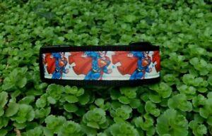 Nylonhalsband-Superman-Verstellbar 27-45cm-3cm breit .Neu-Neu