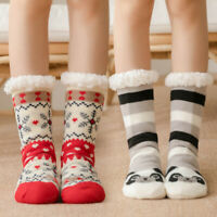 Women's 1Pair Slipper Bed Socks Warm Fleece Lined Sock Ladies Soft Fluffy