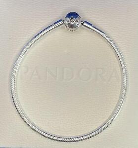 """Pandora Bracelet 590728 Silver SIZE 7.9"""" Moments Snake Chain  ALE"""