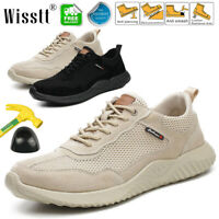 MENS NON-SLIP ULTRA LIGHTWEIGHT STEEL TOE WORK SAFETY SHOES TRAINERS MESH BOOTS