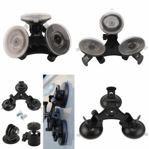 Triple Suction Cup Car Mount Holder for GoPro Hero 5/4/3 Action Camera