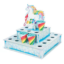 Unicorn Treat Stand with Cones MAGICAL DECOR FAIRYTALE Birthday Party Favors