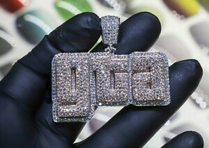 HipHop Style Diamond Studded Lucky ''GTA'' Pendant Solid 925 Sterling Silver