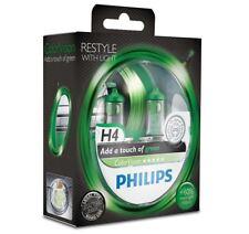 H4 Philips ColorVision Green 60/55W 12V Lampadine Fari Alogeni 12342CVPGS2 Set