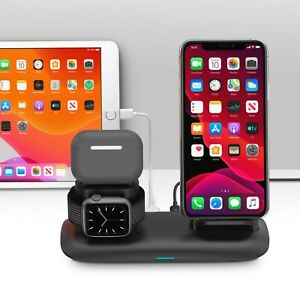 For Apple iPhone Fast Wireless Charger Stand Station Apple watch charger
