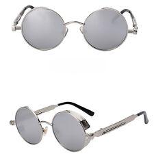 Gótico Steampunk Blinder Cyber Redondo Lentes Gafas de sol polarizadas Sring