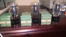 x3 1951 PERFECT NOS NIB *TRUE MATCHED PAIR (+1) SYLVANIA TYPE 80 tube TV-7 Test