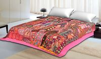 Indian Traditional Vintage Decor Zari Tapestry Wall Hanging Decor Bedspreads