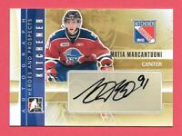 2011-12 Matia Marcantuoni ITG In The Game Heroes & Prospects Rookie Auto