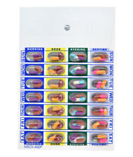 Weekly, 4 Time a Day, Cold Seal Blister Cards Book Fold 6 Pack DP551-6 Reg