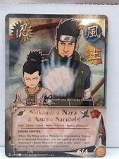 """Naruto Shikamaru Nara & Asuma Sarutobi N-US040 """"Shogi Match"""" Super Rare NM"""