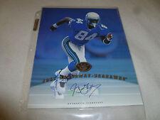 AUTOGRAPHED CARD PHOTO 8 X 10 LEAF JOEY GALLOWAY SEAHAWKS 1997 AUTO SIGNED NFL >