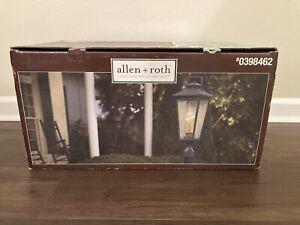 Allen + Roth post lantern Black Iron Finish 9in X 9in X 25.4in Model No. LW-1020