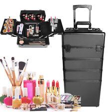 Aluminium Schminkkoffer Make-up-Eitelkeitskoffer 5in1 Schönheit Schmuck Kosmetik