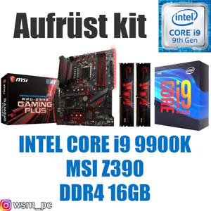 🅸🅽🆃🅴🅻 Core i9 9900K ● MSI Z390 Mainboard ● 16GB RAM ● Intel PC Bundle Kit