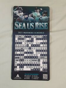 2021 Seattle Mariners Lewis/Gonzales/Crawford/White team magnet schedule