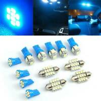13 x LED Lights Interior Package Kit Pure Blue For Dome License Plate Lamp Bulbs