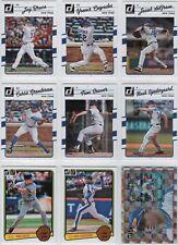 2017 DONRUSS NY Mets Team Set w/Retro Variations & Cespedes AS (9 Cards) - MT