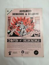 Advanced Dungeon and Dragons by Gary Gygax Tomb of Horrors S1 Special Module