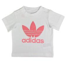 Adidas Originals Trefoil ACOLCHADO Tee Niñas Niño Pequeño Camiseta blanca rosa