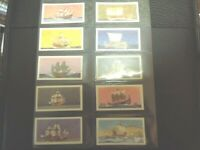 1970 Brooke Bond Tea THE SAGA OF SHIPS sailing subs navy Trading set  50 cards