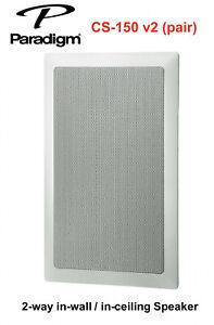 Paradigm White In-Ceiling/Wall Speaker CS-150 v.2 (pair) +Mounting Brackets VGC