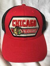 02b2623e616 Chicago Blackhawks CCM Trucker Hat Vintage Patch Adjustable Hat Cap -  Red White