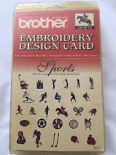 NEW BROTHER EC12 SPORTS EMBROIDERY DESIGN CARD GOLF FOOTBALL BASKETBALL TENNIS