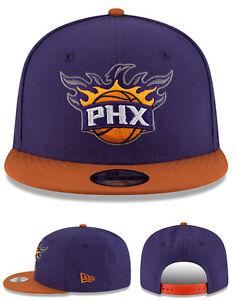 Phoenix Suns New Era Youth Kids 9Fifty PHX Purple Orange Team Snapback Hat Cap
